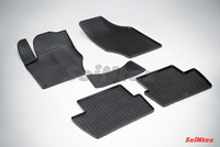 Резиновый коврик Seintex сетка для Peugeot 408 2012-