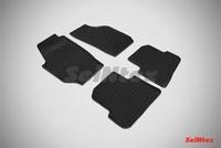 Резиновый коврик Seintex сетка для Skoda FABIA II 2007-