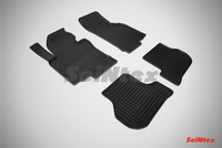Резиновый коврик Seintex сетка для Skoda OCTAVIA A5 2008-