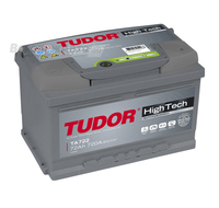Аккумулятор TUDOR High-Tech 72 А/ч обратная R+ EN 720A 278x175x175
